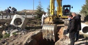 43 ilin geçiş güzergahında 'doğalgaz' borusu patladı: Yol trafiğe kapatıldı