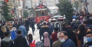 İstiklal Caddesi'nde korona virüs ve sigara denetimi