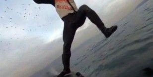 Kenan Sofuoğlu fliteboard yaparken suya düştüğü videoyu paylaştı