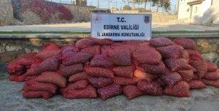Edirne'de 600 bin TL'lik 3 ton kum midyesi ele geçirildi