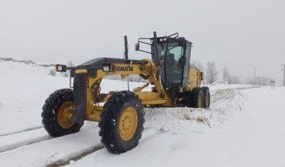 Tunceli'de karla kaplı 41 köy yolu açıldı