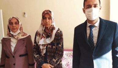 Diyarbakır MHP il yönetiminde evi kundaklanan evlat nöbetindeki aileye ziyaret
