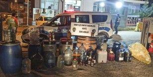 Tekirdağ'da 619 litre kaçak içki ele geçirildi