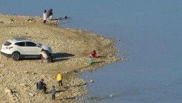 Kozan Barajı'nda ürküten kuraklık manzarası