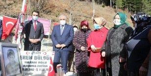 Bakan Zehra Zümrüt Selçuk şehit Eren Bülbül'ün kabrini ziyaret etti