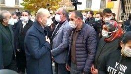 İçişleri Bakanı Süleyman Soylu, Diyarbakır'da evlat nöbetindeki aileleri ziyaret etti