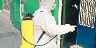 Testi pozitif çıkan vatandaşların apartmanları dezenfekte ediliyor