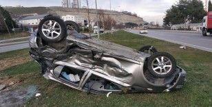 Samsun'da kamyon otomobil ile çarpıştı: 3 yaralı
