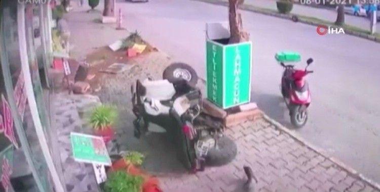 ATV kazasında ölümün teğet geçtiği anlar kamerada
