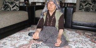 Yaşlı kadına kabusu yaşattılar