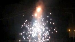 Şanlıurfa'da elektrik direğindeki patlama anları kamerada