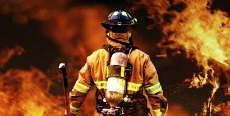 Lojistik deposunda çıkan yangın