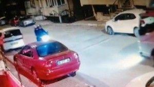Maltepe'de dakikalar içerisinde motosiklet hırsızlığı