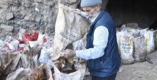 Mağaradan yarasa gübresi çıkartarak satıyor