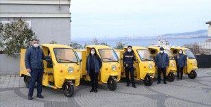 PTT'nin çevre dostu elektrikli araçları Adalar'da kullanılmaya başlandı