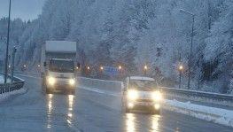 Bolu Dağı'nda kar yağışı etkili oldu