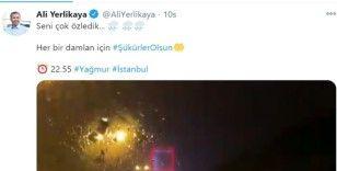 İstanbul Valisi Ali Yerlikaya'dan yağmur paylaşımı
