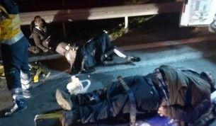 Kırklareli'nde mülteci taşıyan minibüs kaza yaptı