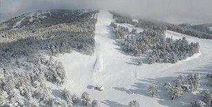 Murat Dağı Termal Kayak Merkezi artan kar kalınlığıyla sezona hazır hale geldi