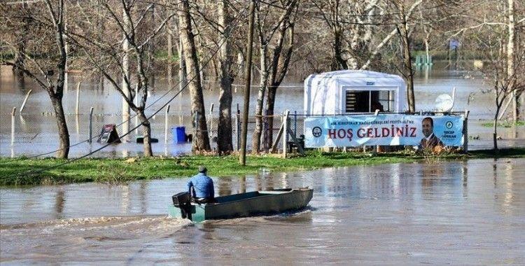 Tunca Nehri'nin taşmasıyla Kırkpınar Er Meydanı sular altında kaldı