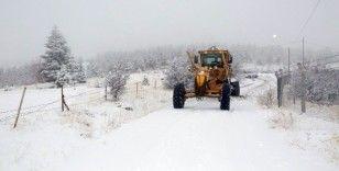 Elazığ'da kar 38 köy yolunu kapattı