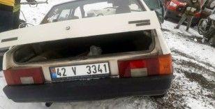 Konya'da 3 araç çarpıştı: 1ölü, 4 yaralı