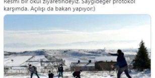 Milli Eğitim Bakanı Selçuk'tan kartopu paylaşımı