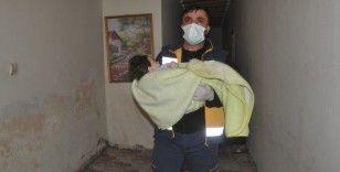 7 aylık Abdurrahim bebek 4 saat çalışma sonucu hastaneye kaldırıldı