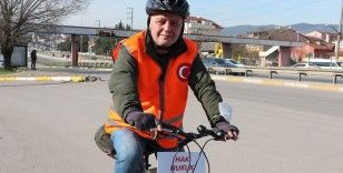 İBB'de işten çıkartılan işçi, İstanbul'dan Ankara'ya kadar pedal çeviriyor