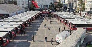 Samsun'da şehir içi ulaşım için alınan 33 otobüs sefere başladı