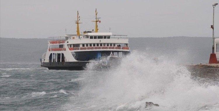 Geyikli-Bozcaada feribot hattındaki seferlerden 2'si iptal edildi