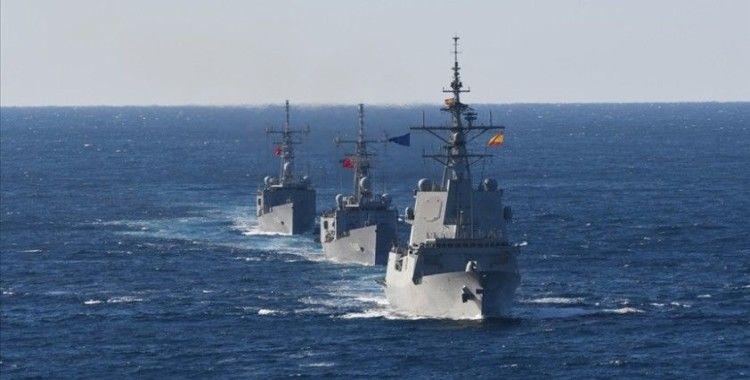 NATO Daimi Deniz Görev Grubu-2 ile TCG GÖKOVA fırkateyni Doğu Akdeniz'de geçiş eğitimi yaptı