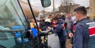 Yakıt tankerinde patlama: 3 yaralı