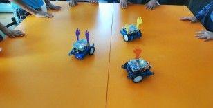 """Çocukların """"Erik Dalı"""" oynayan robotlarına büyük ilgi"""