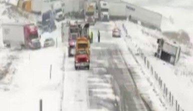 ABD'de kar fırtınasında 40 araç birbirine girdi
