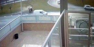 Avcılar'da feci kaza güvenlik kamerasında