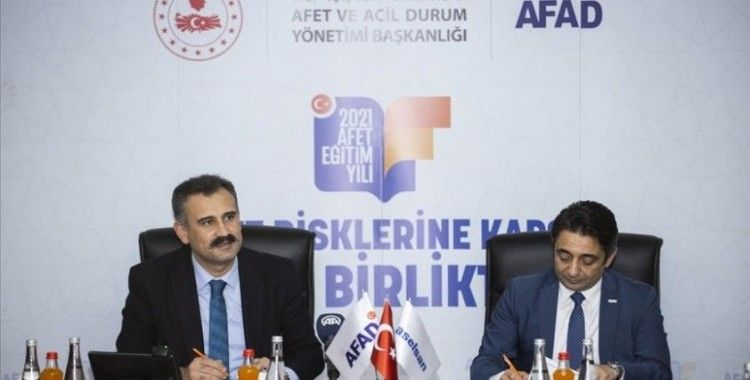 AFAD ile ASELSAN arasında 'Afet Farkındalık Eğitimleri İş Birliği Protokolü' imzaladı