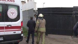 Pendik'te ısınmak için tinerle ateş yakan şahıs kendini yaktı