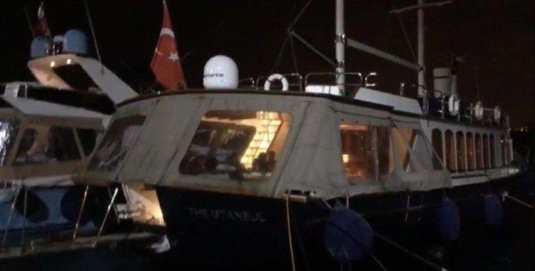 İstanbul Boğazı'nda yattaki doğum günü partisine baskın