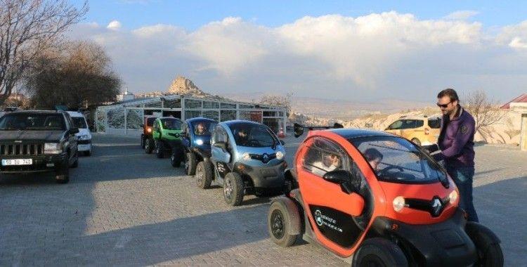 Kapadokya'da elektrikli twizyler turlara başladı