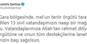 """TBMM Başkanı Şentop: """"Terör örgütüne ve onun tüm destekçilerine lanet olsun"""""""