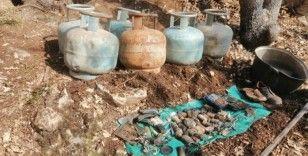 Teröristlere ait 5 mağara ile mühimmat ve yaşam malzemesi ele geçirildi