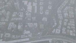 Beyaza bürünen Kadıköy havadan görüntülendi