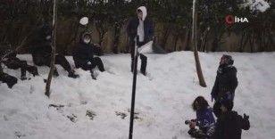 Başakşehir'de çocukların kar keyfi