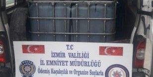 İzmir'de polisten kaçak akaryakıt operasyonu