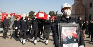 Teröristlerin katlettiği polis memuru Kaya, Mardin'de son yolculuğuna uğurlandı