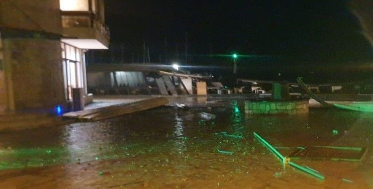 Urla dolu felaketinden sonra fırtına ile boğuşuyor