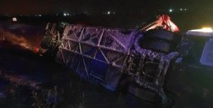 Konya'da otobüs, otomobil ve tır karıştığı zincirleme kaza: 5 ölü, 35 yaralı