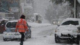 Yunanistan'da kar fırtınası