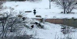 Bahçelievler'de vatandaşların karla imtihanı